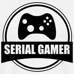 T-shirt Gamer Serial Gamer - Herre premium T-shirt