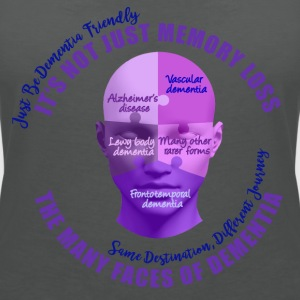 The Many Faces of Dementia. - Women's V-Neck T-Shirt