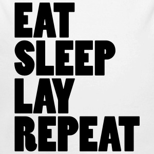 Eat sleep lay repeat Baby Bodys - Baby Bio-Langarm-Body