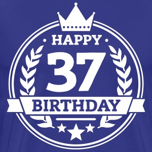 Happy 37. Birthday T-Shirts - Männer Premium T-Shirt