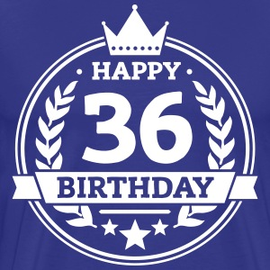 Happy 36. Birthday T-Shirts - Männer Premium T-Shirt