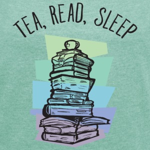 Tea, Read, Sleep T-shirts - Dame T-shirt med rulleærmer