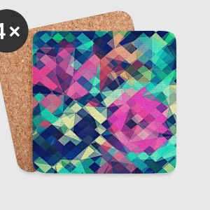 Abstract Rose (Colorful Pattern) Art - Phone Case Kopper & tilbehør - Brikker (sett med 4)