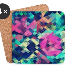 Abstract Rose (Colorful Pattern) Art - Phone Case Mugs & Drinkware - Coasters (set of 4)