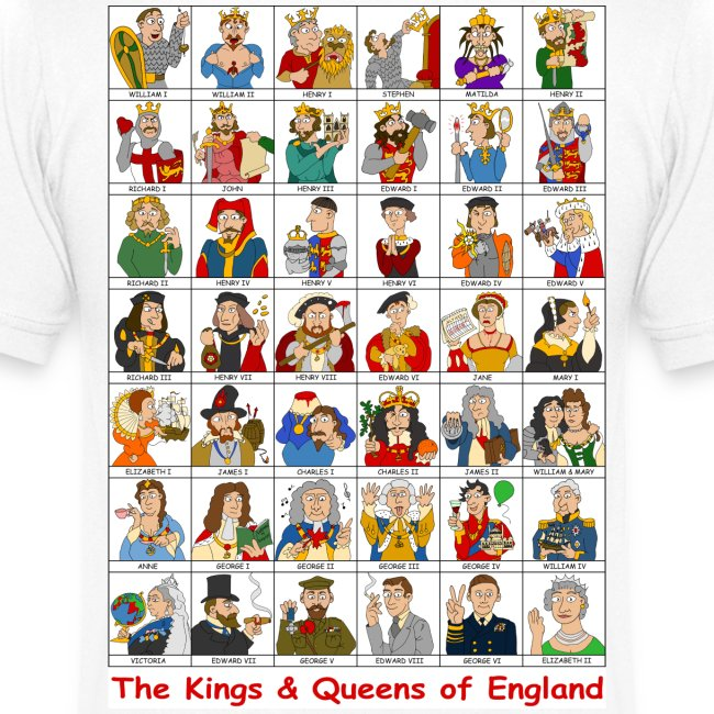 Kings & Queens of England (V-Neck Back)