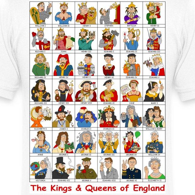 Kings & Queens of England (V-Neck Back)
