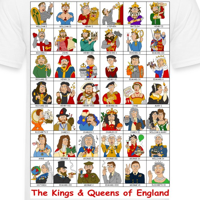 Kings & Queens of England (Back)