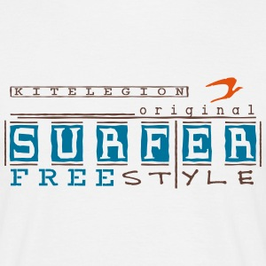 surfer_freestyle_vec_3 nl T-shirts - Mannen T-shirt