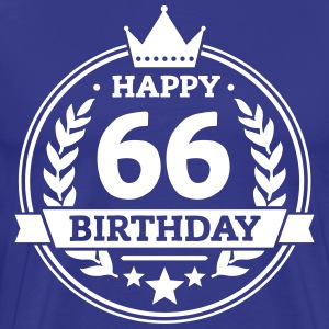 Happy 66. Birthday T-Shirts - Männer Premium T-Shirt