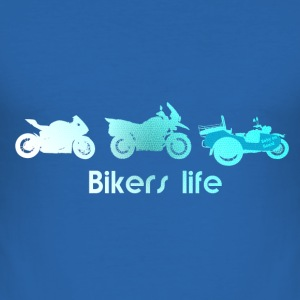 bikers life mit Struktur T-Shirts - Männer Slim Fit T-Shirt
