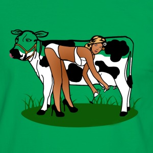 Cow Milking Dry T-Shirts - Men's Ringer Shirt