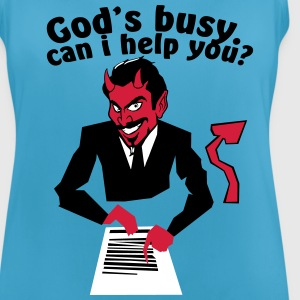 God's  busy. Can i help? Ropa deportiva - Camiseta de tirantes transpirable mujer