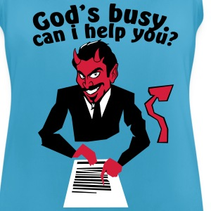 God's  busy. Can i help? Sportbekleidung - Frauen Tank Top atmungsaktiv