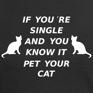 If You're Single And You Know It Pet Your Cat T-shirts - Vrouwen contrastshirt