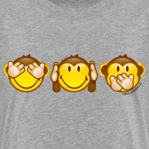 SmileyWorld Drei Affen Smileys horizontal - Kinder Premium T-Shirt