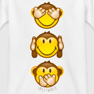 SmileyWorld Three Monkeys top to bottom - Teenage T-shirt