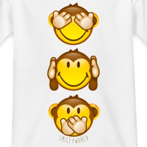 SmileyWorld Three Monkeys top to bottom - T-skjorte for tenåringer