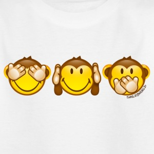 SmileyWorld Three Monkeys left to right - T-skjorte for tenåringer