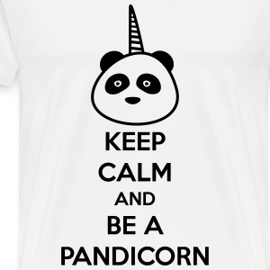 Keep Calm and be a Pandicorn - Herre premium T-shirt