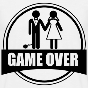 Adio el celibato - game over - Mannen T-shirt