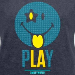 SmileyWorld Play Smiley - Women's T-shirt with rolled up sleeves