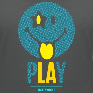 SmileyWorld Play Smiley - Dame-T-shirt med V-udskæring
