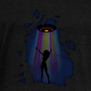 Alien Disco Fever Hoodies & Sweatshirts - Women's Boat Neck Long Sleeve Top