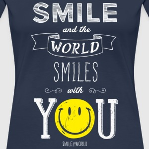 SmileyWorld Smile and the world smiles with you - Women's Premium T-Shirt