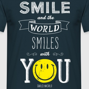 SmileyWorld Smile and the world smiles with you - Camiseta hombre