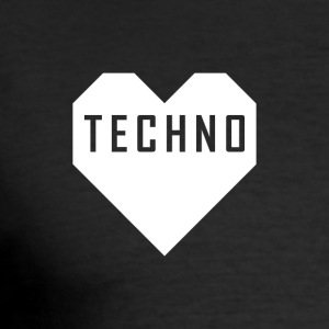 Techno Herz Shirt - Männer Slim Fit T-Shirt