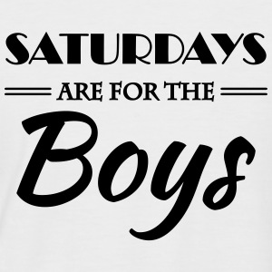 Saturdays are for the boys T-Shirts - Männer Baseball-T-Shirt
