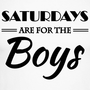 Saturdays are for the boys Long sleeve shirts - Men's Long Sleeve Baseball T-Shirt