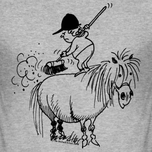 Thelwell Pony 'Spring leaning' - Men's Slim Fit T-Shirt