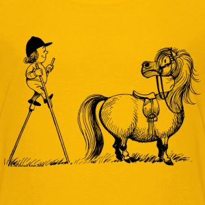 Thelwell Pony 'Penelope with stilts' - Teenage Premium T-Shirt