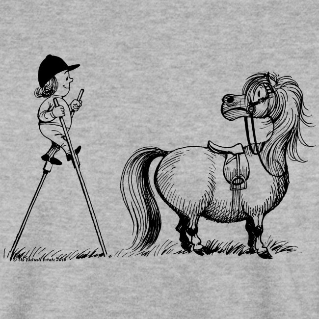 Thelwell Pony 'Penelope with stilts'
