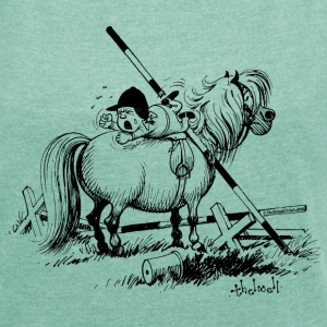Thelwell A hard-bitten Pony - Women's T-shirt with rolled up sleeves