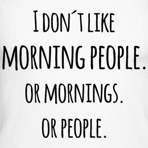 I don´t like morning people Blague marrante Manches longues - T-shirt baseball manches longues Homme