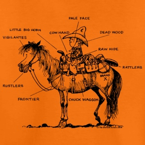 Thelwell Pony 'Western Riding school' - Kids' Premium T-Shirt