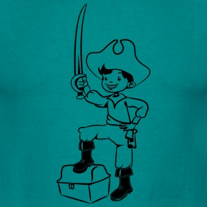 Pirate treasure chest playing boy fun T-Shirts - Men's T-Shirt
