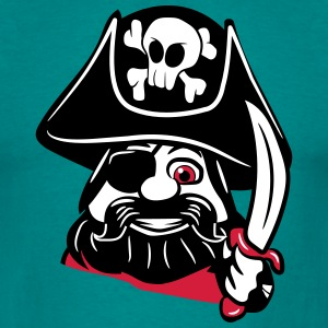 Pirate Dreispitz sjovt T-shirts - Herre-T-shirt