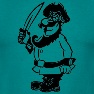 Degen Pirate køligt T-shirts - Herre-T-shirt