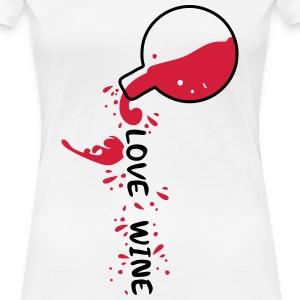 wine pouring from bottle Women's Premium T-Shirt - Women's Premium T-Shirt