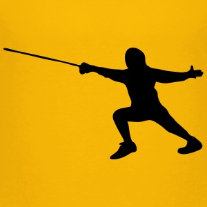Man wearing fencing suit Teenage Premium T-Shirt - Teenage Premium T-Shirt