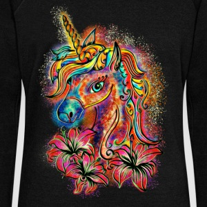 Unicorn, rainbow, fantasy, magic, horse, pony Hoodies & Sweatshirts - Women's Boat Neck Long Sleeve Top