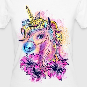Einhorn, unicorn, rainbow, fantasy, magic, Pferd,  - Frauen Bio-T-Shirt
