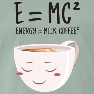 E = MC² - Energy = Milk Coffee² T-shirts - Mannen Premium T-shirt