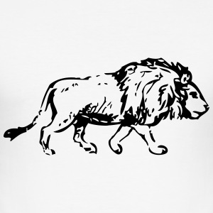 Löwe - Lion T-Shirts - Männer Slim Fit T-Shirt