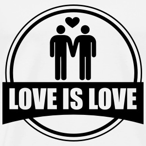 T-skjorter Regnbue Love is Love Gay - Premium T-skjorte for menn
