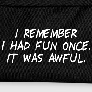 i had fun once - it was awful II Bags & Backpacks - Kids' Backpack