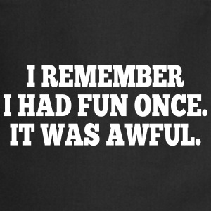 i had fun once - it was awful I Kookschorten - Keukenschort